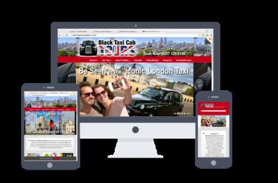 website design-black taxi cab tours