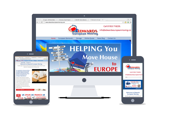 website design-edwards european moving