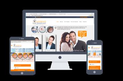 website design- Moorgate hair Transplant