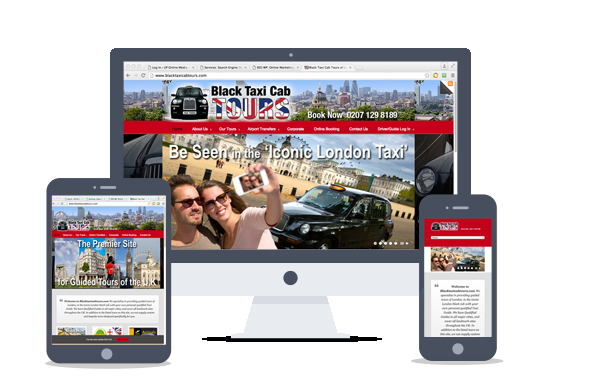 website design-black taxi cab tours