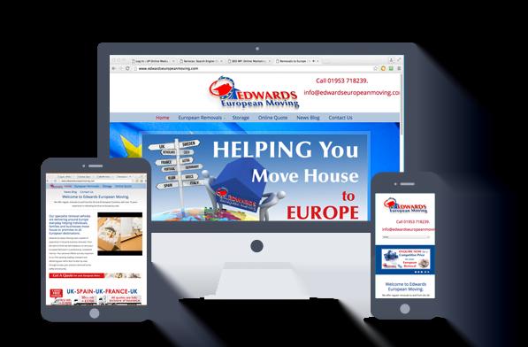 website design-edwards european moving